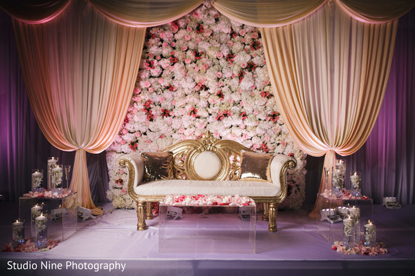 indian wedding reception decor,stage decor,flowers decor