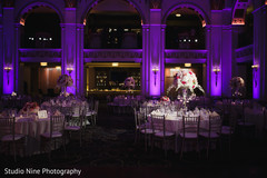 Stunning Indian wedding reception lights decor,