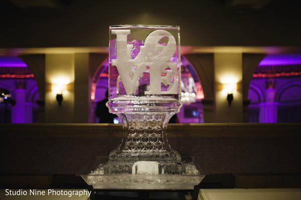 indian wedding ice decor,indian wedding love sign
