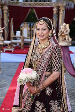 Magnificent Indian bridal ceremony outfit.