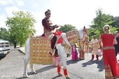 Maharajah on his baraat procession capture.