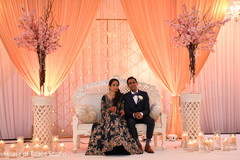 Gorgeous Indian couple during wedding reception.