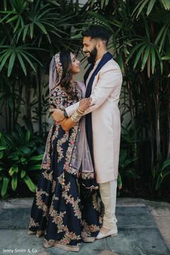 Portrait of the ravishing Indian newlyweds