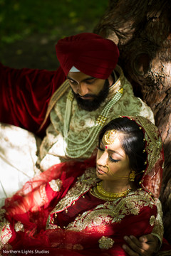 Dreamy Indian bride and groom's photo shoot.