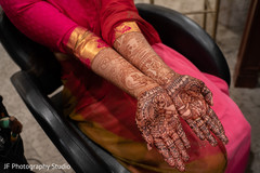 Indian bridal henna art.