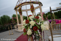 Marvelous Indian wedding ceremony flowers decorations.