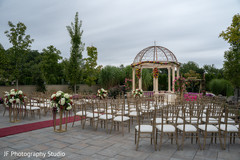 Magnificent Indian wedding ceremony venue decor.