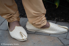 Elegant Indian groom's ceremony shoes.