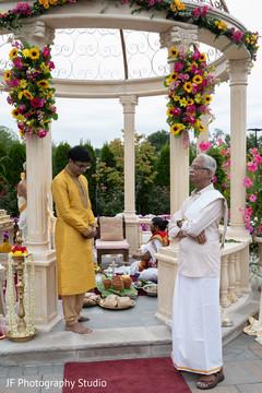 Maharajah at his wedding ceremony mandap.
