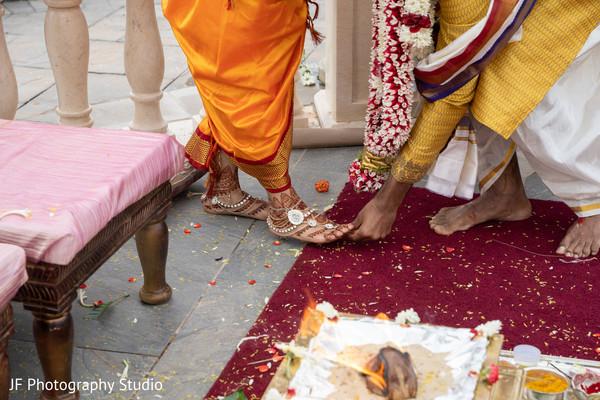 Closeup capture of the Bichiya ritual.