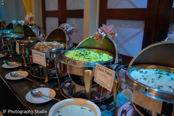 Incredible Indian wedding food buffet.