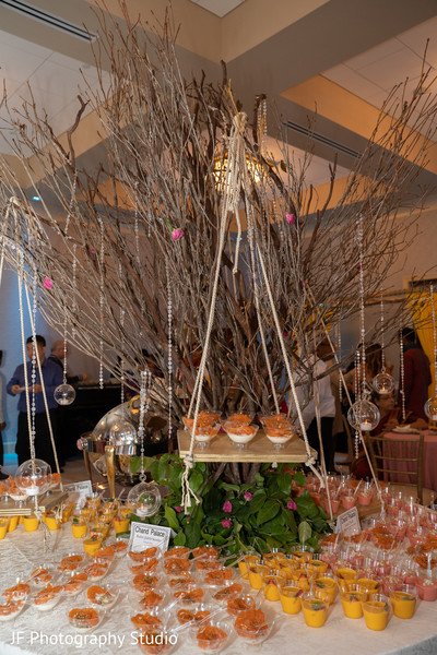 Wonderful decoration for the Indian wedding treats table.