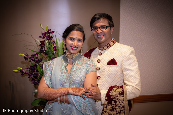 Perfect Indian bride and groom photo session.