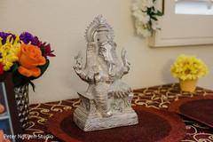Incredible Indian wedding Ganesha decor.