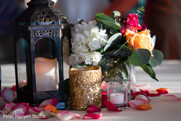 Lovely Indian wedding table decoration.