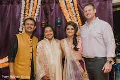 Sweet Indian couple with parents capture.