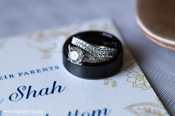 Stunning Indian bridal engagement ring and wedding band.