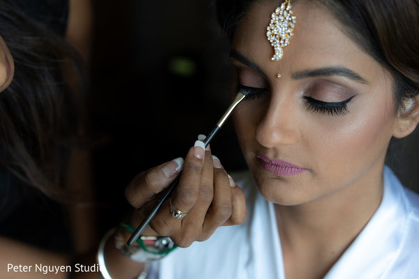 Maharani getting her makeup done capture.