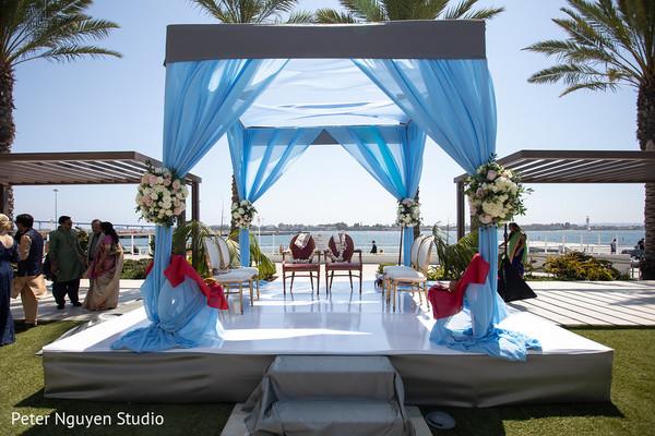 Incredible Indian wedding ceremony mandap location.