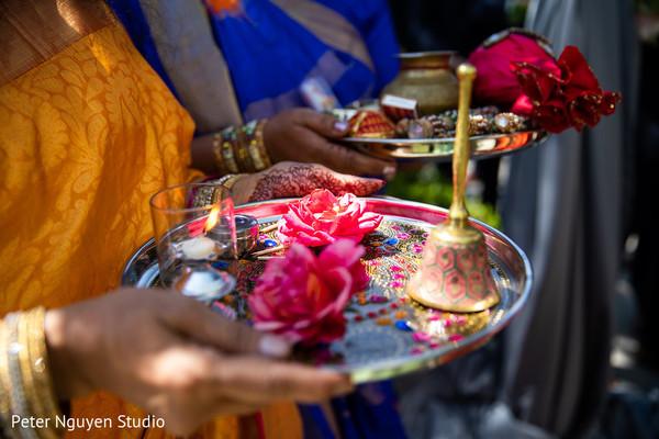 Wonderful capture of Indian wedding ceremony ritual items.