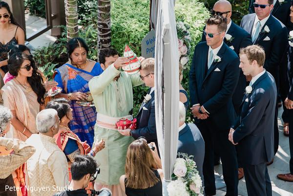 Indian groom during the baraat ritual.