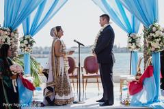 Wonderful view of Indian wedding ceremony.