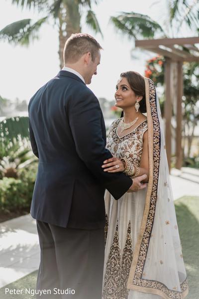 Indian lovebirds joyful moments.