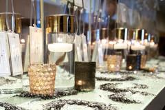 Marvelous Indian wedding candle decor.