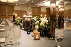 Spectacular indian wedding reception table decor.
