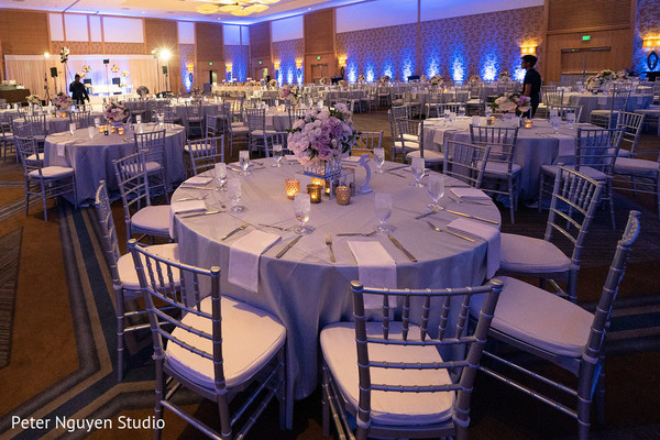 Magnificent Indian wedding reception table setup.