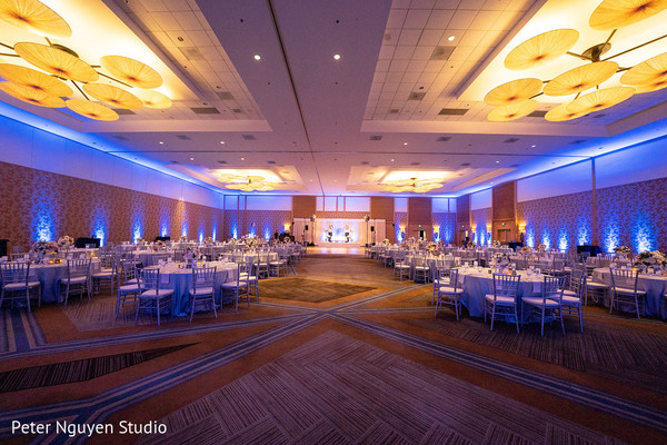 Stunning Indian wedding reception decoration.