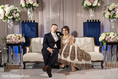 Beautiful indian bride and groom reception photography.