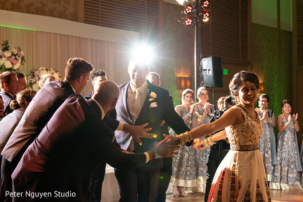 Delightful indian wedding reception capture.
