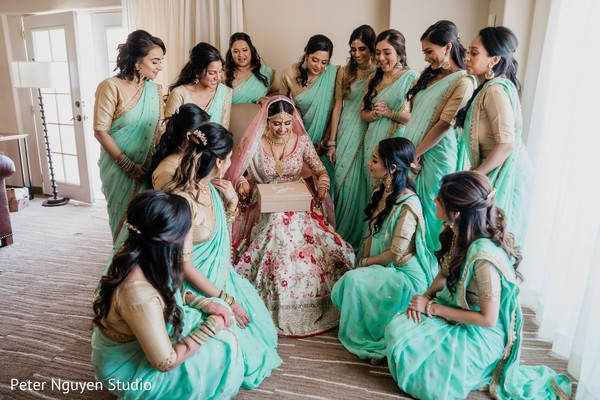 maharani,indian bridesmaids,indian wedding ceremony fashion