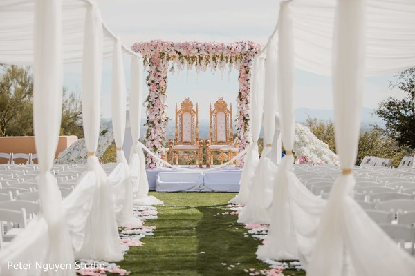 Incredible Indian wedding ceremony venue decoration.