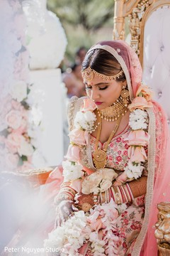Incredible capture of Indian bride at her ceremony.