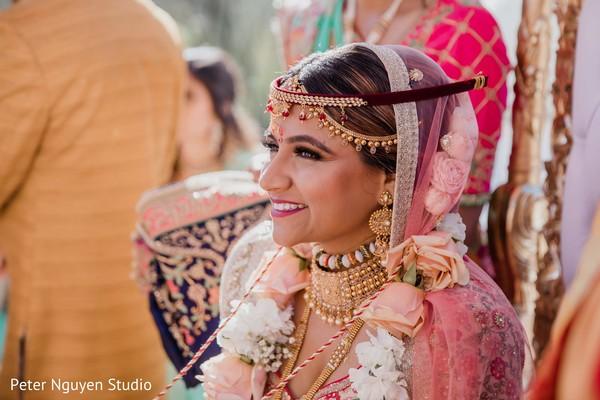 Indian bride with special tiara capture.