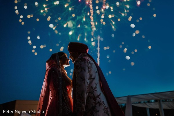 Incredible capture of Indian bride and groom.