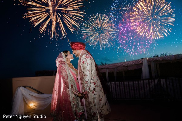maharani,rajah,indian wedding fireworks