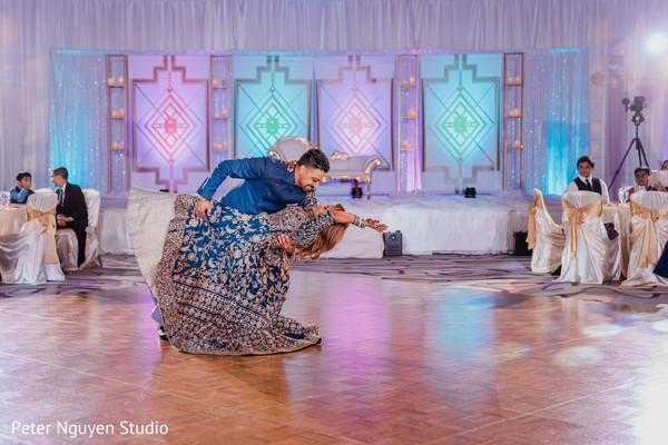 Creative indian couple dance.