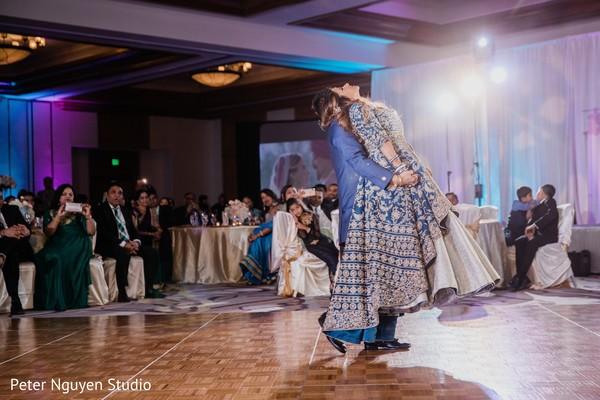 Fabulous indian lovebirds reception dance.