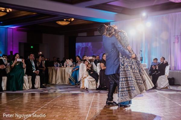 Sensational Indian wedding reception dance.