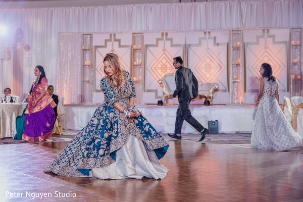 Magnificent Indian bride's reception dance.