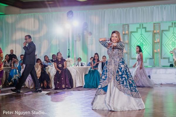 Astonishing indian bride's reception dance.