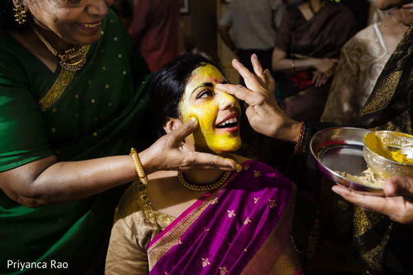 Beautiful Maharani during the pre wedding rituals