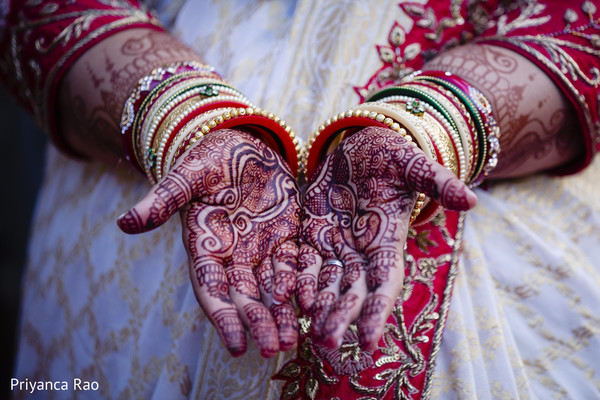 Indian bride's mehndi design