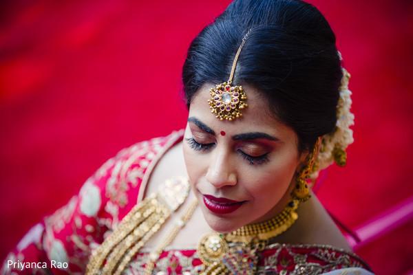 Beautiful Maharani posing with tikka