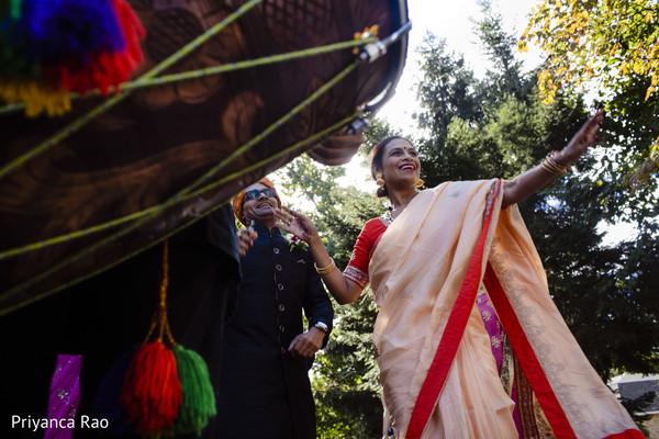 Ravishing guests dancing during the baraat
