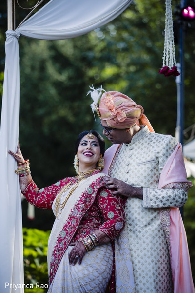 Dazzling portrait of Indian newlyweds