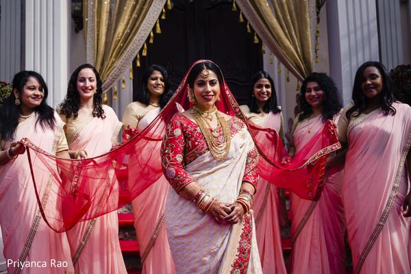 Amazing shot of Maharani and bridesmaids